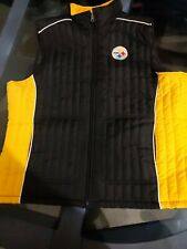 Pittsburgh Steelers NFL Team Apparel Woman's XXL Black & Gold Vest