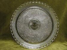 Plat rond cristal de baccarat (baccarat crystal round flat) pointes de diamant