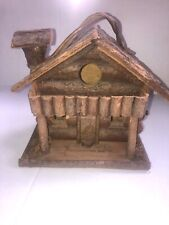 Hand Made Rustic Log Bird House Nesting Sanctuary