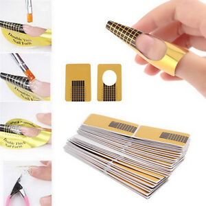 100Pcs Nail Art Tips Extension Forms Guide French DIY Tool Acrylic UV GelYYRD