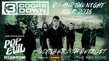 "3 DOORS DOWN / POP EVIL ""US AND THE NIGHT TOUR 2016"" DETROIT CONCERT POSTER"