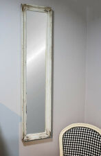 Rectangle Antique Vintage Shabby Chic Style French Narrow White Mirror 128x30cm