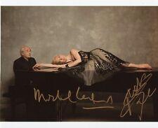AUTOGRAPHES SUR PHOTO 20 x 25 de Natalie DESSAY et Michel LEGRAND signed person