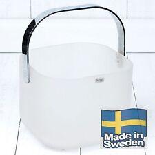 Art Deco Style Kosta Boda Glass FROST Ice Bucket - Handmade in Sweden - New