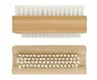 Nail Brush Wooden Double Sided Buffer Scrub Clean Manicure Pedicure Dirt Remover