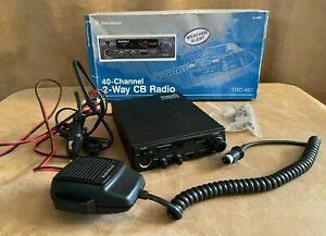 Radio Shack TRC-487 40 Channel Mobile CB Radio Transceiver Weather vintage box