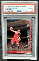 2005 Bowman Chrome LA Lakers LEBRON JAMES Basketball Card PSA 9 MINT Low Pop 93