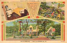 Vintage Postcard Bon Air Courts Dallas Texas TX Linen PC 1951