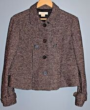 MICHAEL KORS Women's Wool & Silk Gray Tweed 4-Button Blazer / Jacket (Medium)
