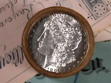 $20 SILVER DOLLAR ROLL 1891 and CC-Mint MORGAN DOLLAR ENDS