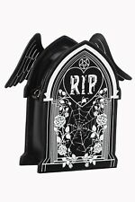 Gothic Emo Rockabilly RIP Coffin Spider Web Wings Backpack Bag By Banned Apparel