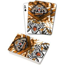 122065 WEST TIGERS NRL TEAM LOGO MASCOT SUPPORTER DECK OF PLAYING CARDS