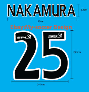 NAKAMURA #25 Celtic FC Home 2005-07 PU NAME NUMBER PRINT EXCELLENT QUALITY
