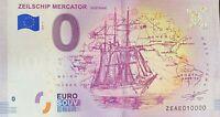 BILLET 0  EURO ZEILSCHIP MERCATOR OSSTENDE 2018  NUMERO 10000 DERNIER