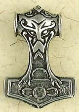 NEW Thor's Hammer, Norse God of Thunder, Pewter Pendant Necklace