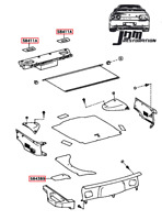 Toyota Supra Boot Trim Panels 93-96 Sz Szr Rzs Rz jza80 2jz 1jz rare