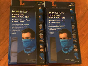 Mission Cooling Neck Gaiter Multifunctional Face & Neck Cover    New!