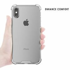Apple iPhone X Case Crystal Clear Bumper Silicone Gel iPhone Soft Cove