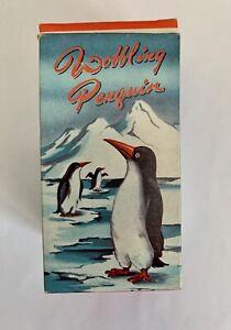 1960s Hong Kong plastic Friction Lucky Toys Wobbling Penguin Empire Made