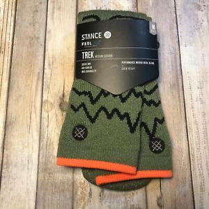 Stance Feel 360 Thunder Valley Trek Wool Blend Crew Socks Men's Size Medium