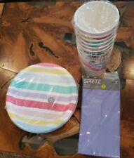 Spritz Dinner Plates, Cup And Napkin Set