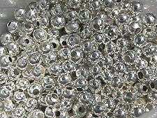 4mm Silver Plated Round Beads (1000) Bulk Lot!  U.S. Seller Get 'em Quick!
