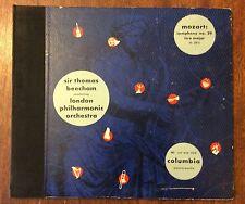 Sir Thomas Beechan, London Philharmonic on 78 rpm Columbia Album MM-333: Mozart