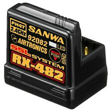 Sanwa 107A41259A 4-Channel RX-482 Telemetry Receiver w/ Built-in Antenna