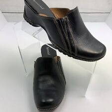 Bjorndal Clogs Slip ons Mules Shoes Women's Slides Size 7.5 M Black Leather