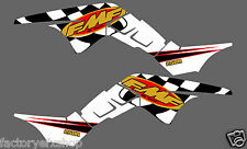 Honda TRX250R FMF Graphics Kit Fenders Plastics Decals Stickers 250R ATV trx Whi