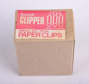 Scovill Clipper Small No-Tear Paperclips 22mm Box 1000
