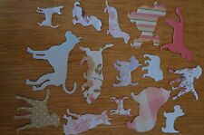 LOTTO Misto 50 cane Die-Cut/Cut Out. VARI Colori/Taglie/razze. carta & CARD