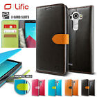 LG G4 Genuine Lific Vivid Diary PU Leather Flip Cover Wallet Case for LG