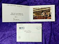 1980 Prince Charles signed Christmas card to a personal friend with envelope