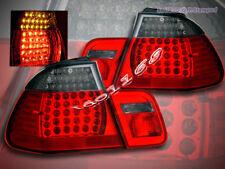 00 00 02 03 BMW E46 3-SERIES TAIL LIGHTS 2 DOOR SMOKE