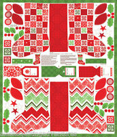 """MODA Fabric Panel ~  JOY ~ by Kate Spain  1 yard x 45"""" Pair of Stockings Project"""