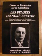 Les Pensées d'André Breton Surréalisme Editions L'Age d'Homme 1988