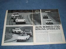 1970 Alfa Romeo 1750 Berlina Spider GTV Vintage Road Test Article