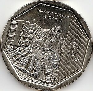 "PERU 1 Nuevo Sol 2011 ""Wealth and Pride of Peru"" Machu Picchu UNC"