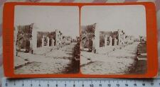 Scavi di Pompei La strada dei sepolcri - Stereophoto G. Brogi n. 5063 - '800 Rar