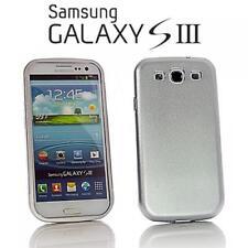 Samsung i9300 Galaxy s3, móvil metal hard case back cover funda protectora plata