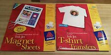 Avery Ink Jet T-Shirt Transfers Pack of 12, and InkJet Magnet Sheets Pack of 5