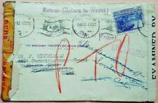 SOUTH AFRICA 1942 TO U. S. ARMY NO RECORD TROOP LOCATOR / RETOUR / UNCLAIMED