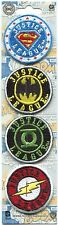 JUSTICE LEAGUE: 4 MINI IRON-ON PATCH SET Batman, The Flash, Superman, P-DC-98-S