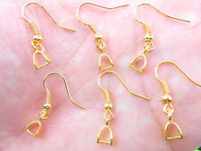 Wholesale 20PCS Finding 18K Gold Plated French Earring Hook Pinch Bail Ear Wire