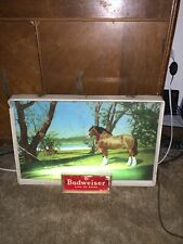 Vintage Budweiser Clydesdale Light-Up Sign - Circa 1970'S