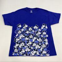 Disney Parks Mickey Mouse T Shirt Men's XL Short Sleeve Blue Pre-shrunk Cotton