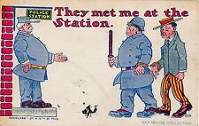 POSTCARD   COMIC   POLICE    Related   They met me  at  the station