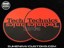 Technics Black & Red halfmoom Dj Slipmats sl1200's mk5 m3d m5g or any turntable