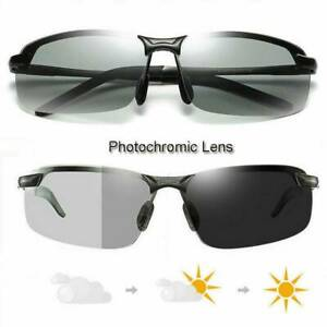 Polarized Photochromic Sunglasses Men's UV400 Driving Transition Lens Glasses UK